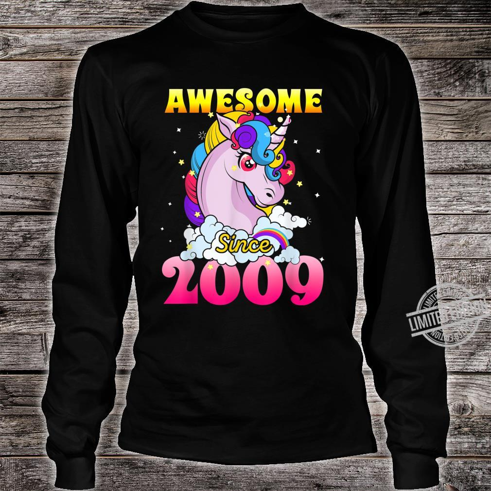 11th Birthday 11 Years Old Dabbing Unicorn Party For Girl Shirt long sleeved