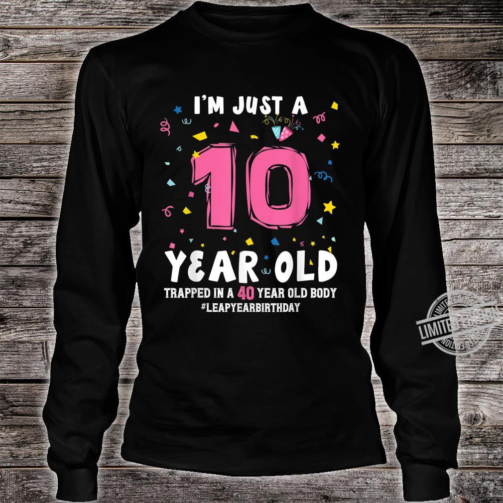 40 Year Old Birthday February 29 Leap Year Leap Day Birthday Shirt long sleeved