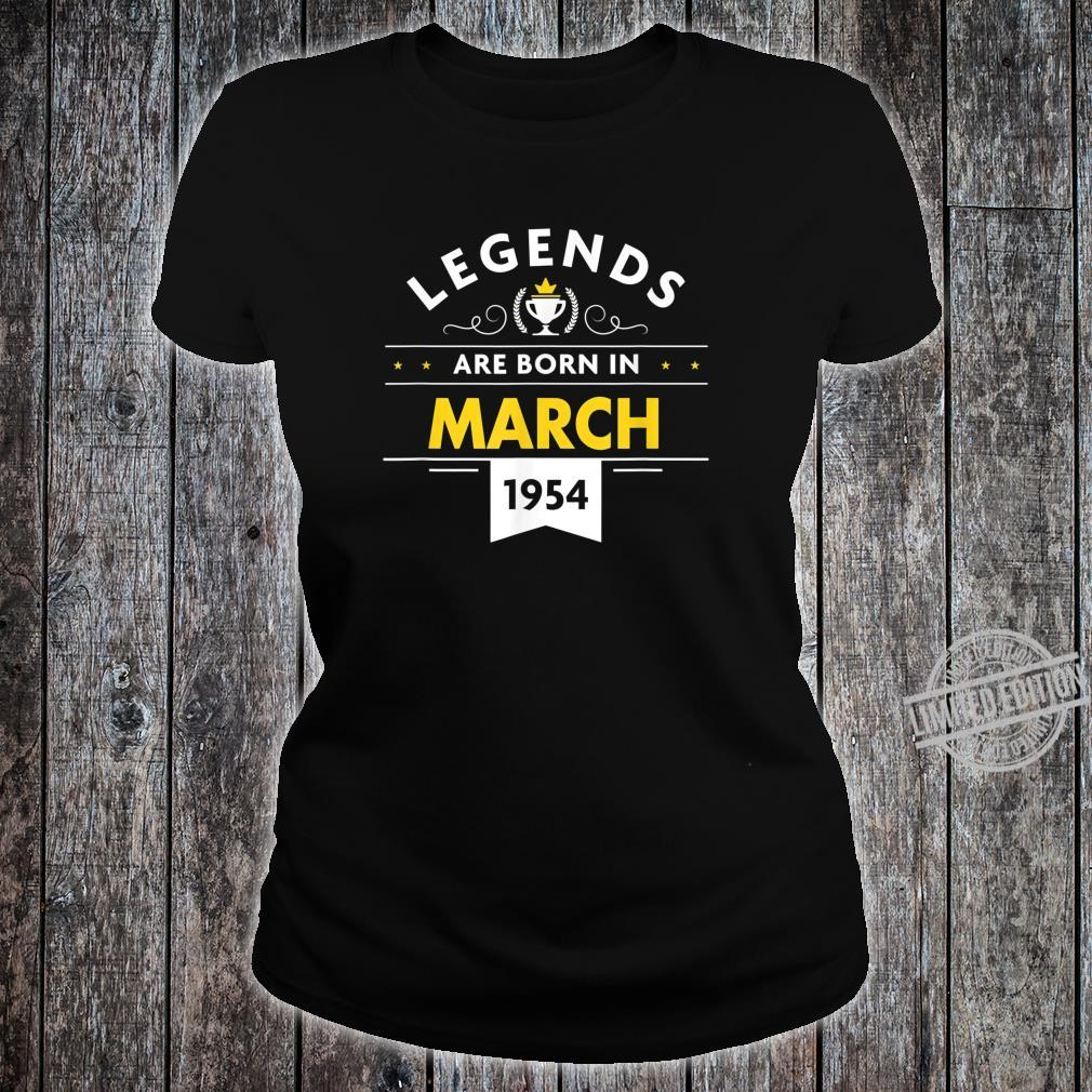 66th Birthday March 1954 The Legend Begins Shirt ladies tee