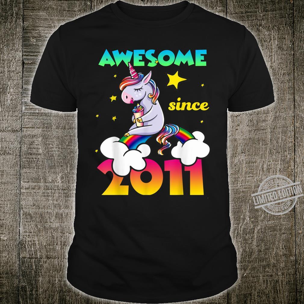 9th Birthday 9 Years Old Dabbing Unicorn For Girl Shirt