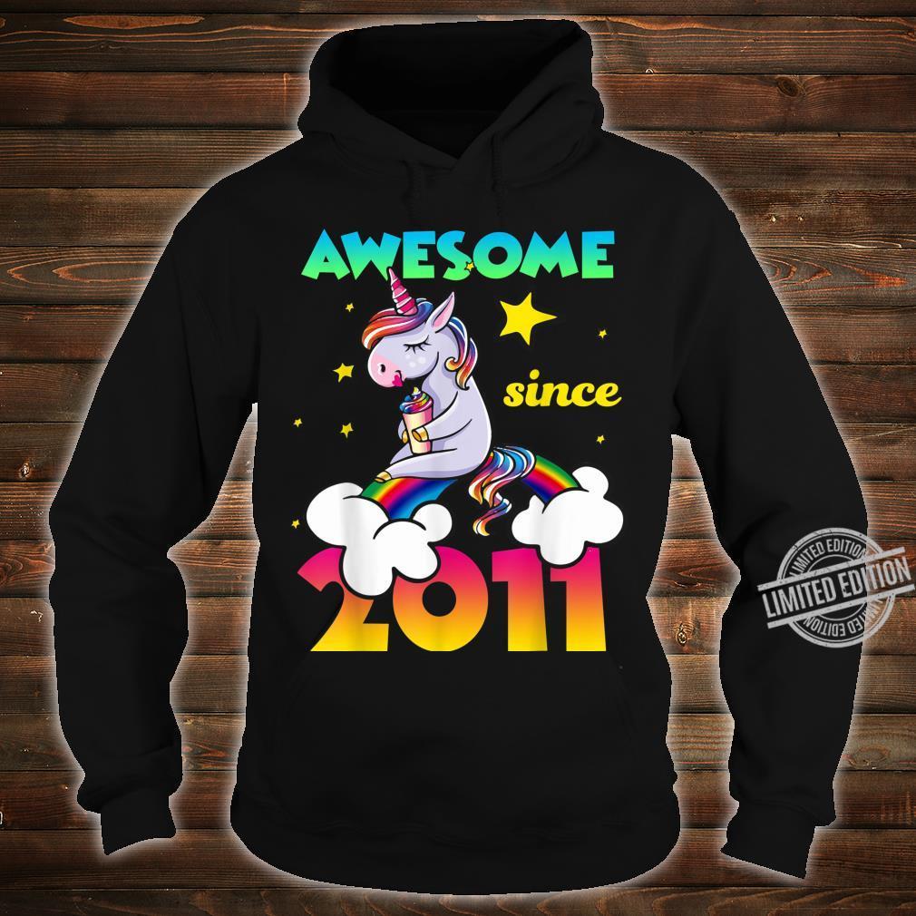 9th Birthday 9 Years Old Dabbing Unicorn For Girl Shirt hoodie