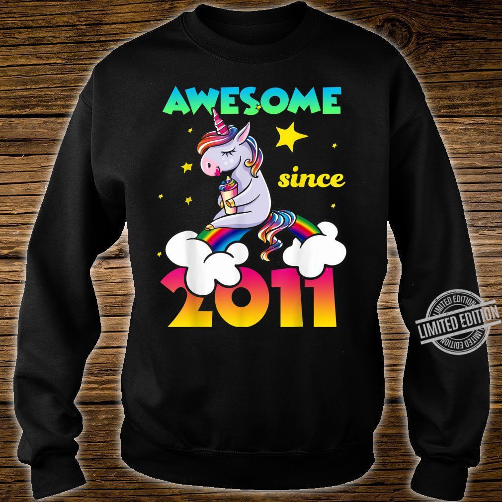 9th Birthday 9 Years Old Dabbing Unicorn For Girl Shirt sweater