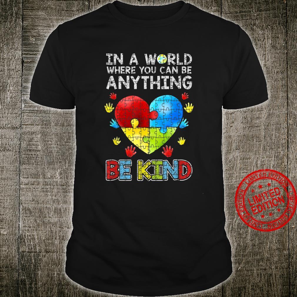 Autistische Unterstützung Puzzle Be Kind Autismus Shirt