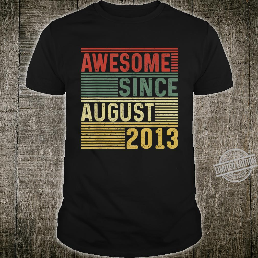 Awesome Since August 2013 Limited Edition 7 Yrs Old Shirt