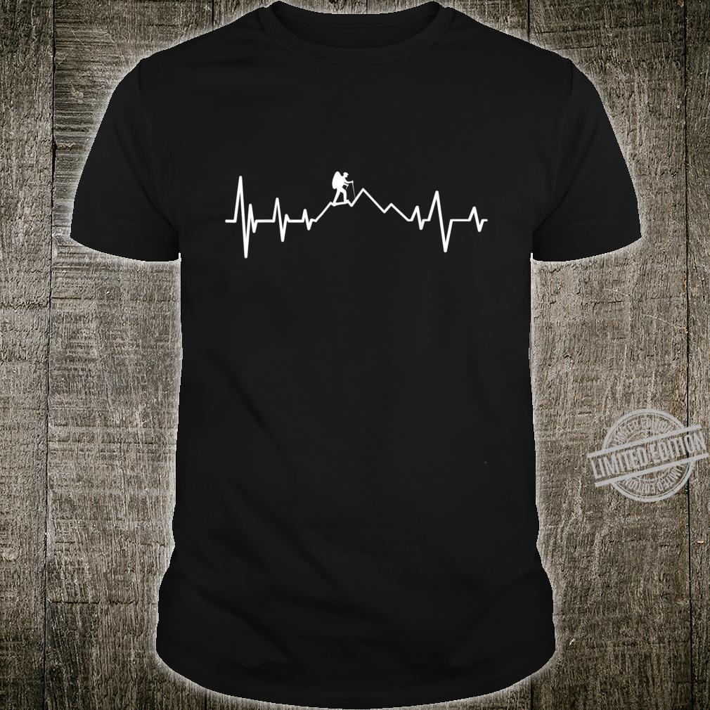 Berge Herzschlag Wandern Heartbeat Shirt