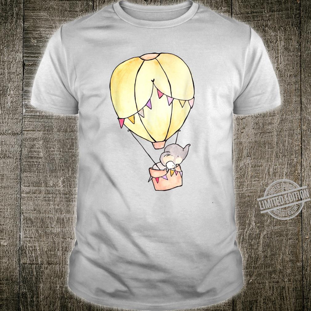 Bunny Rabbit Elephant Friends in Hot air Balloon Animals Shirt