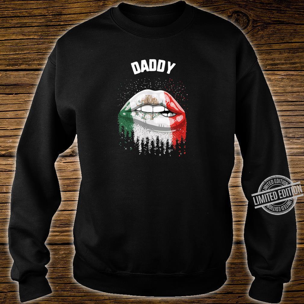 Cinco De Mayo Daddy Kiss Lips Mexico Flag Shirt sweater