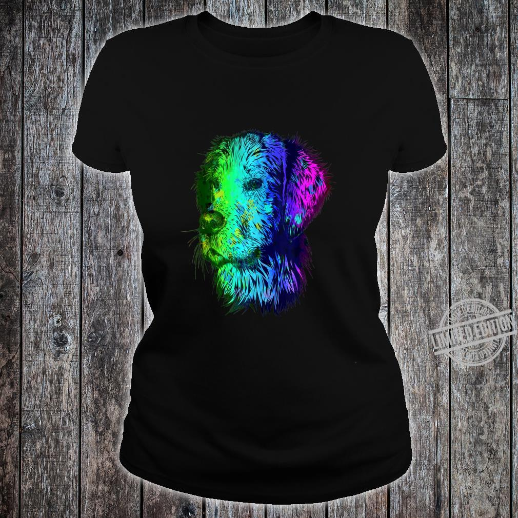 Colorful Retriever Shirt ladies tee