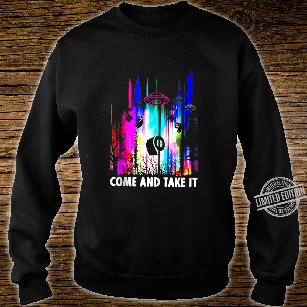 Come And Take It UFO Paper Shirt sweater