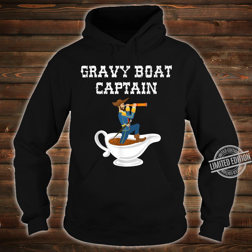 Cool Gravy Boat Captain Thanksgiving Foodie Meal Shirt hoodie