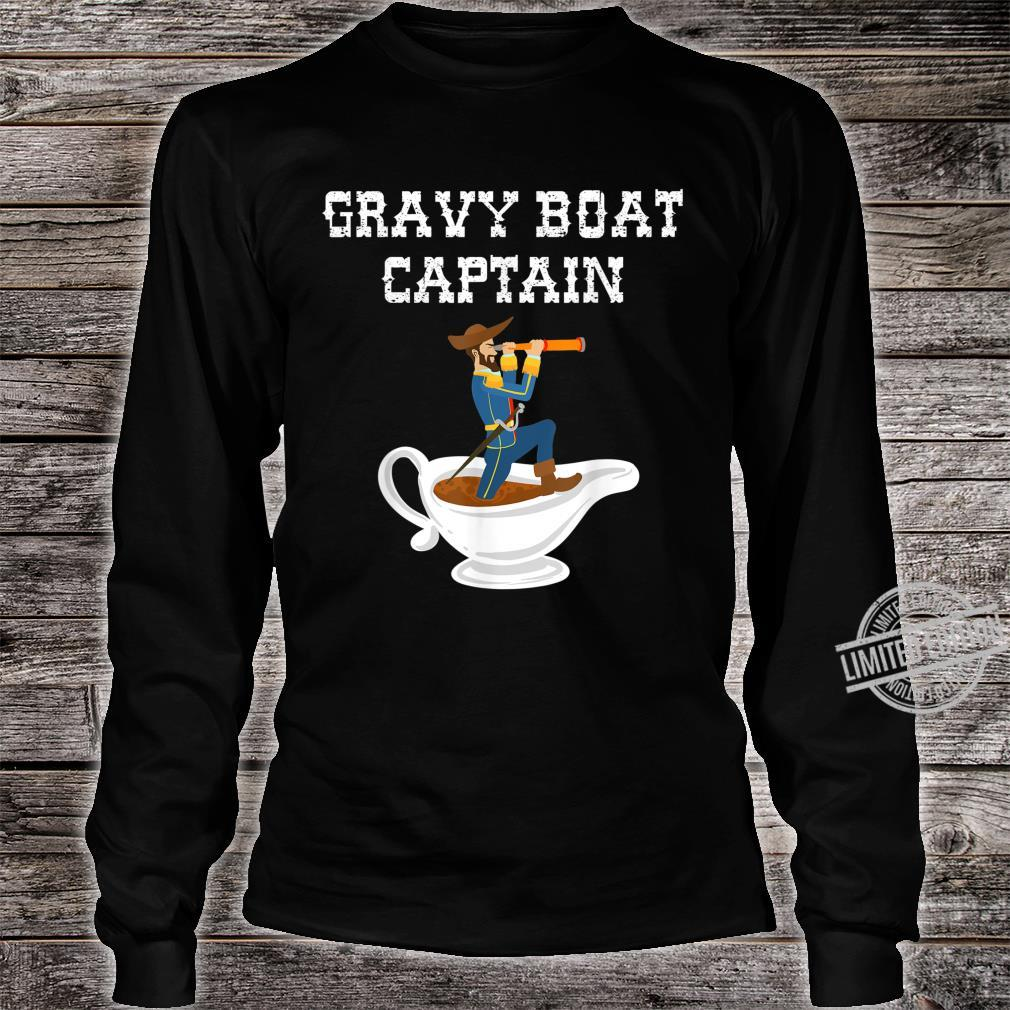 Cool Gravy Boat Captain Thanksgiving Foodie Meal Shirt long sleeved