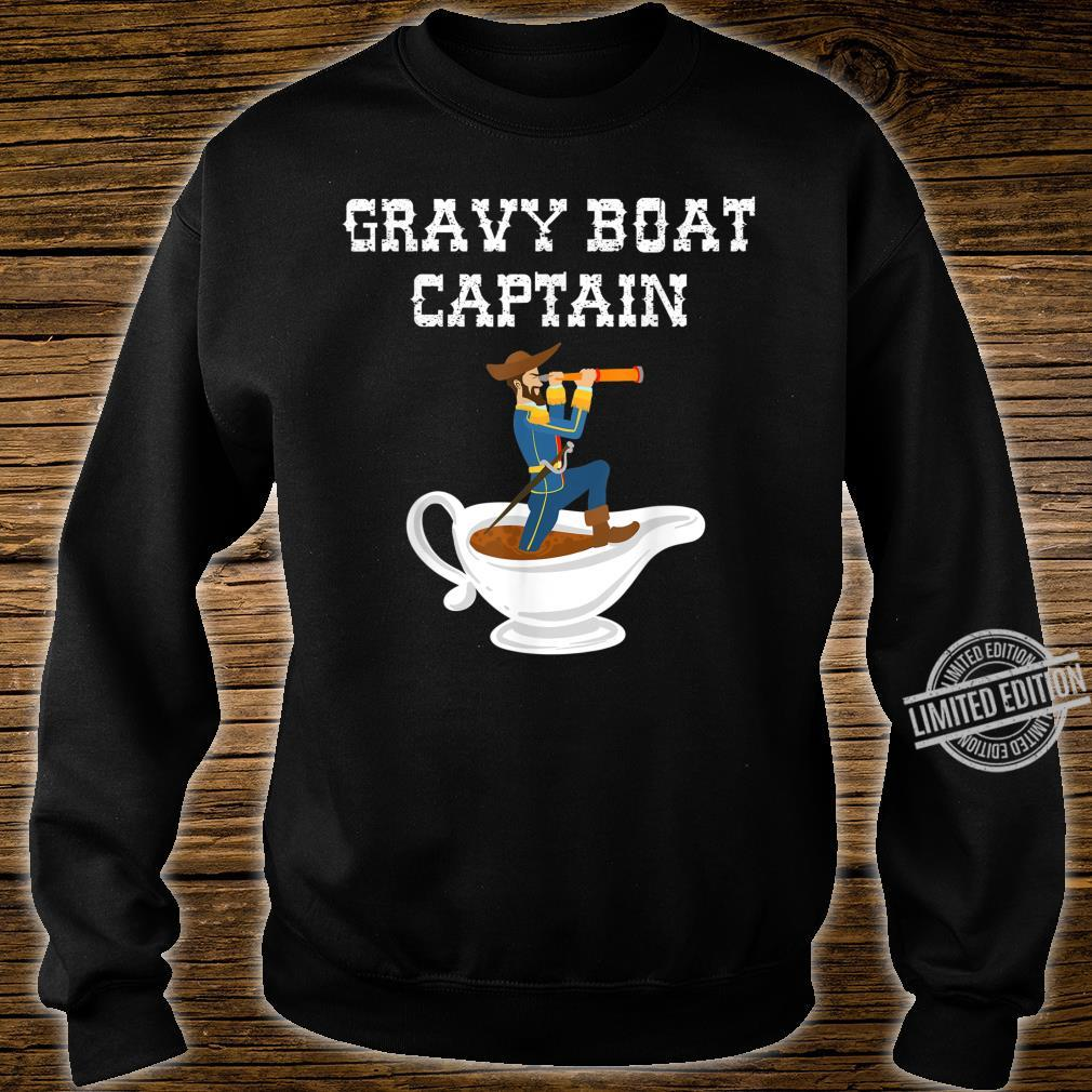 Cool Gravy Boat Captain Thanksgiving Foodie Meal Shirt sweater