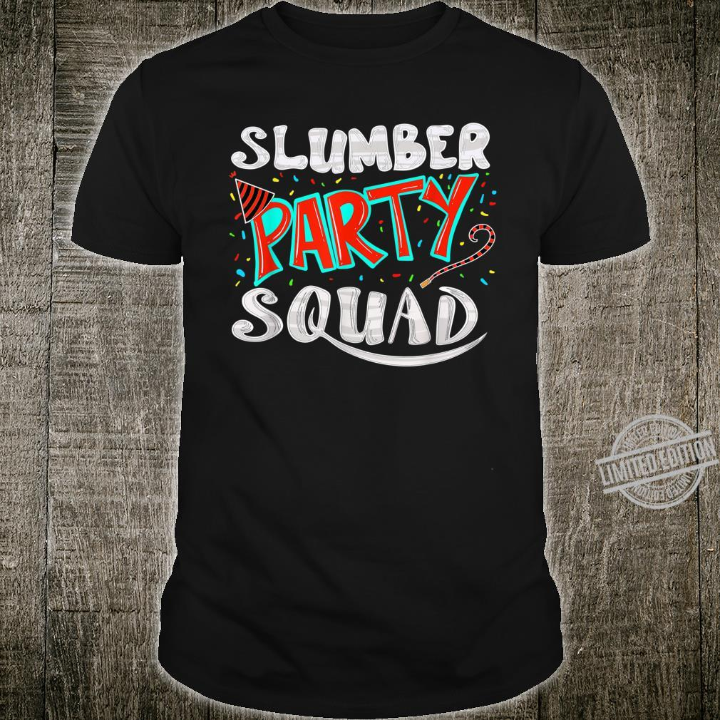 Cool Slumber Party Squad Sleepover Pajama Group Shirt