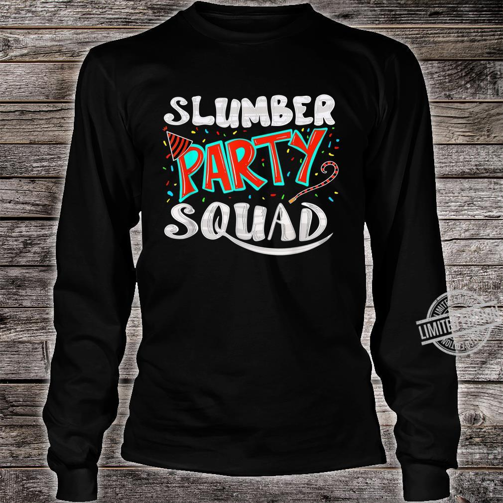 Cool Slumber Party Squad Sleepover Pajama Group Shirt long sleeved