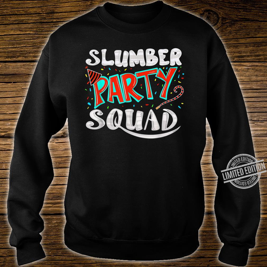 Cool Slumber Party Squad Sleepover Pajama Group Shirt sweater