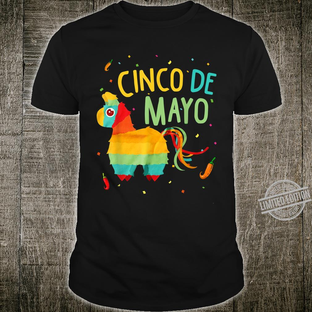 Cute Pinata Cinco De Mayo Sombrero Mexican Costume Shirt