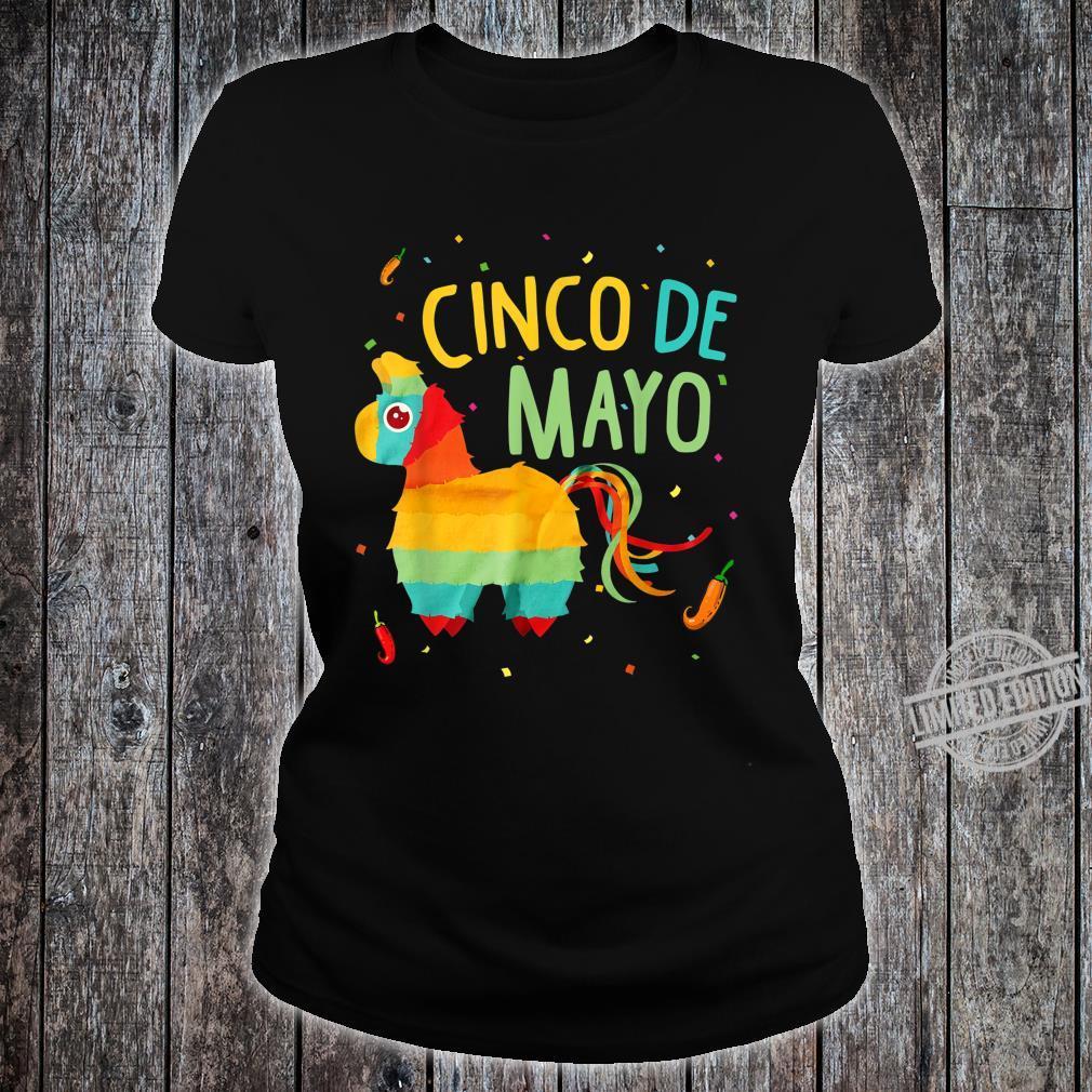 Cute Pinata Cinco De Mayo Sombrero Mexican Costume Shirt ladies tee