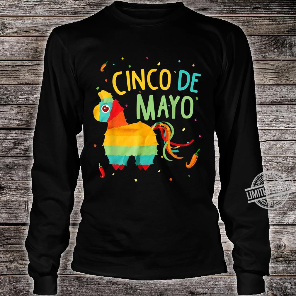 Cute Pinata Cinco De Mayo Sombrero Mexican Costume Shirt long sleeved