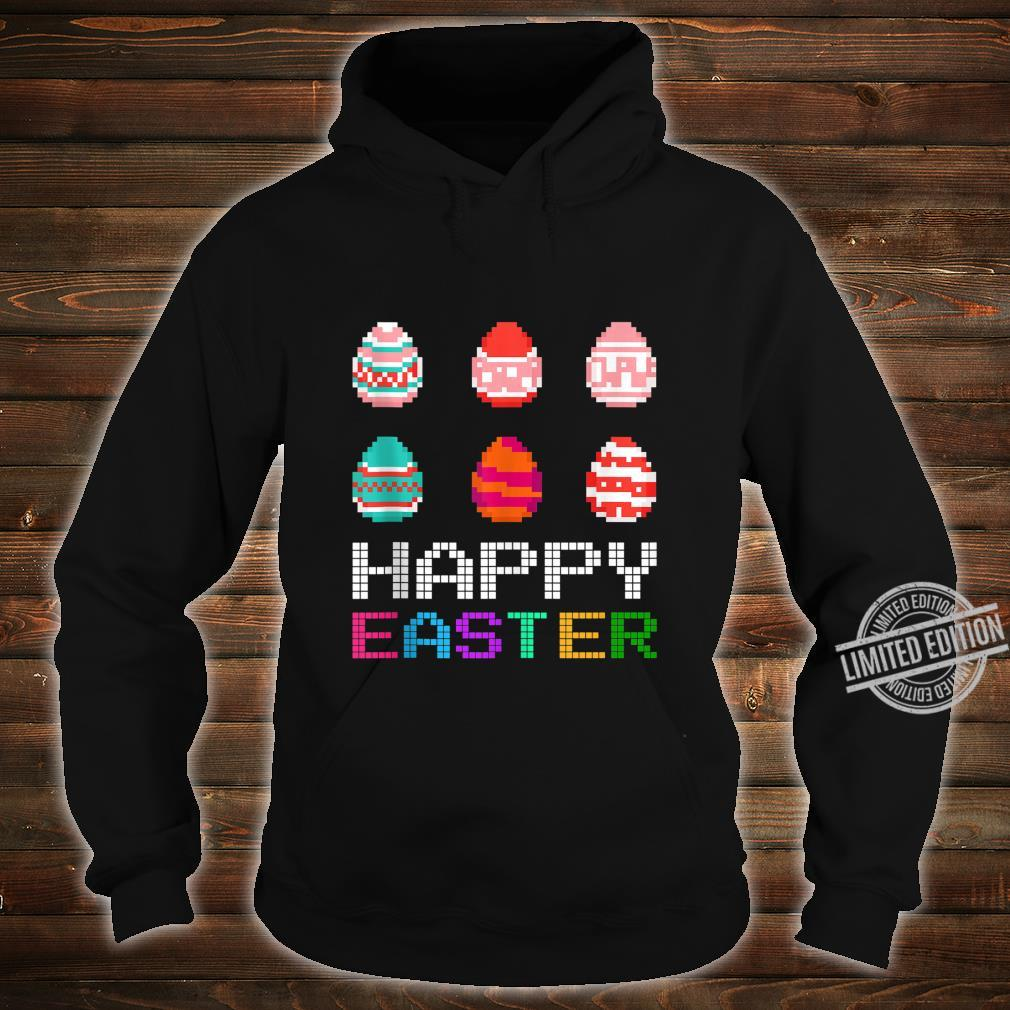 Cute Six Bunny Eggs Happy Easter Day Shirt hoodie