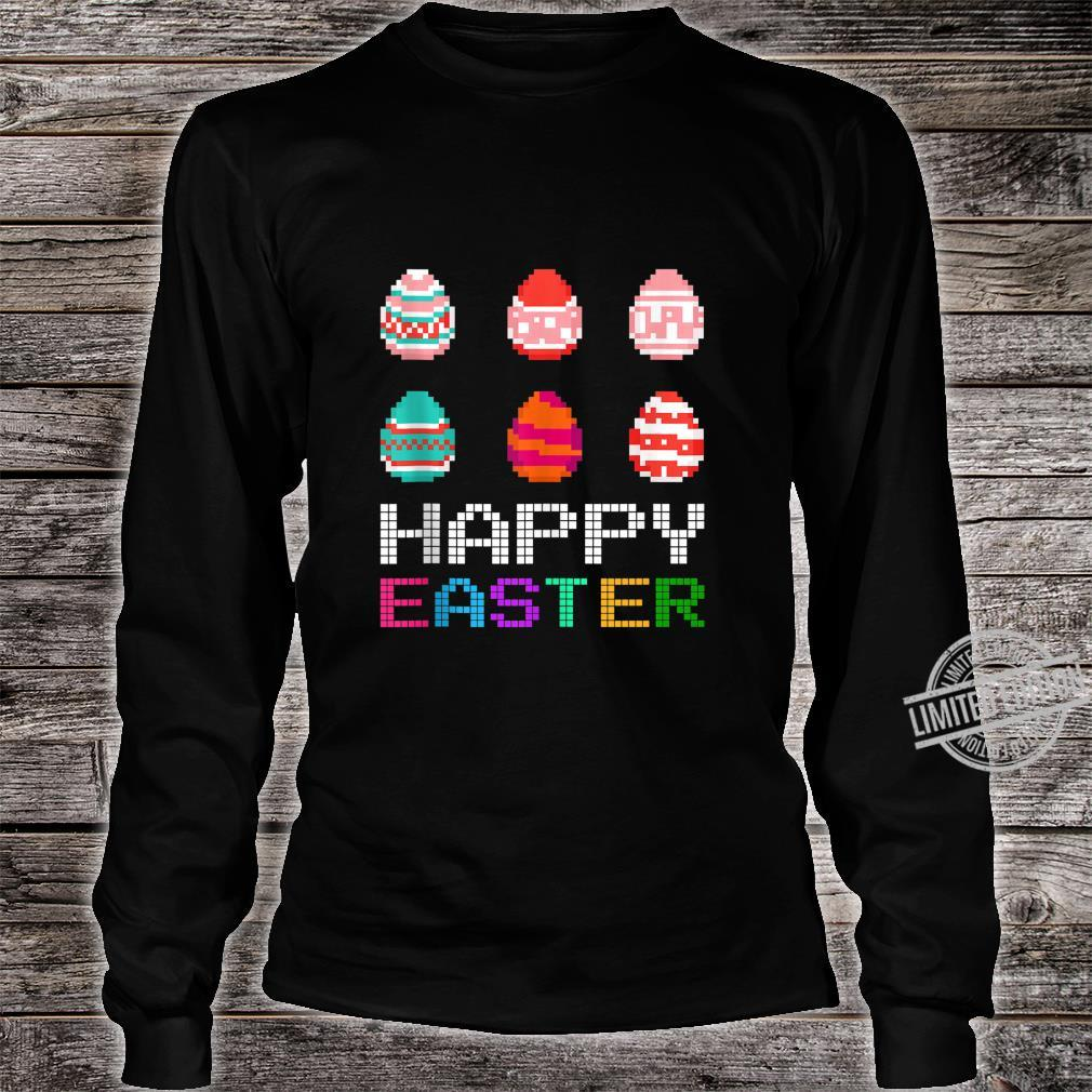 Cute Six Bunny Eggs Happy Easter Day Shirt long sleeved