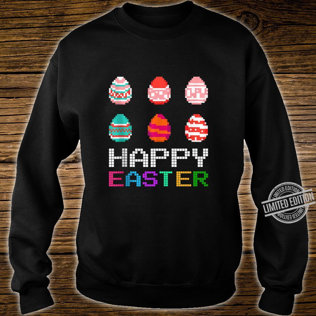 Cute Six Bunny Eggs Happy Easter Day Shirt sweater