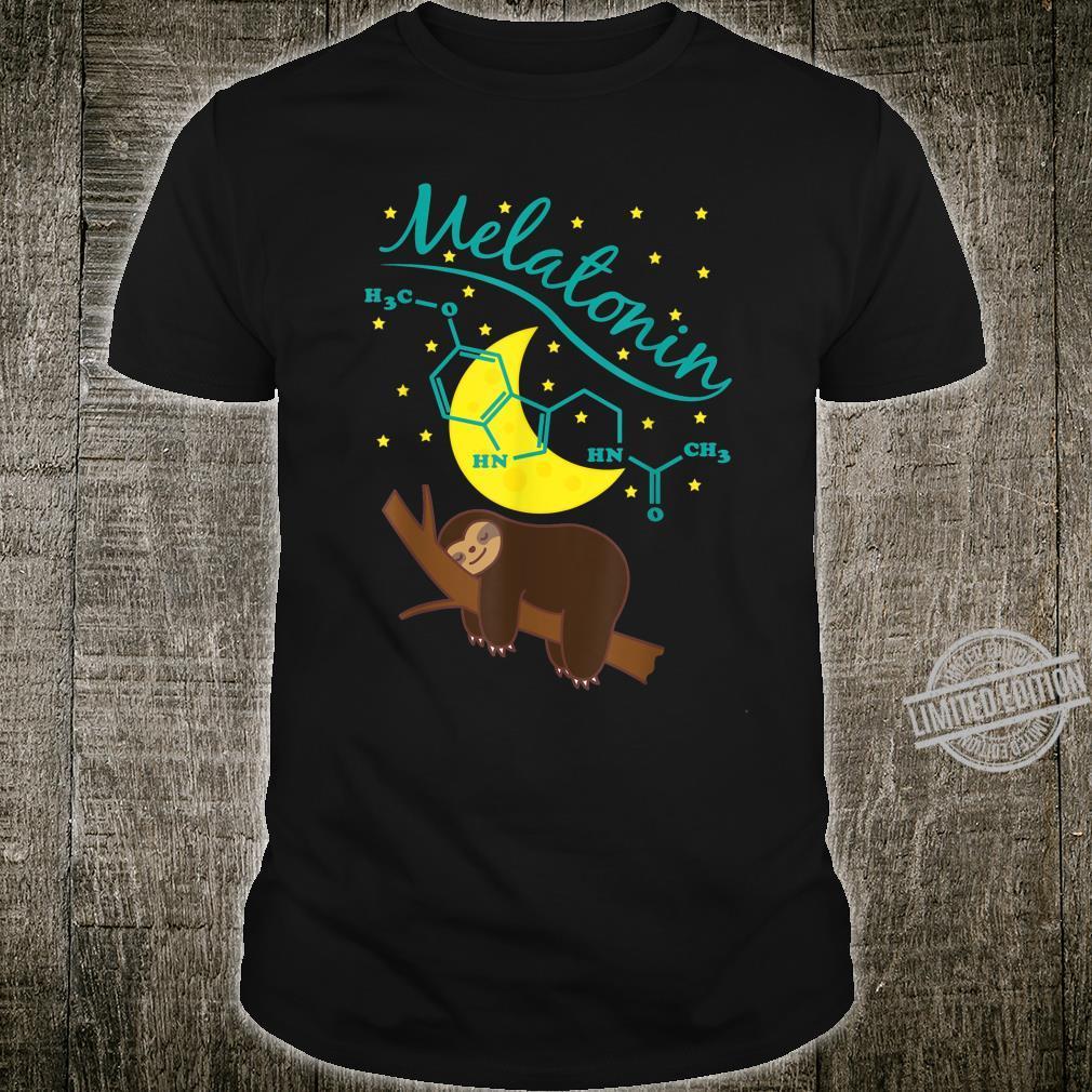 Cute Sleeping Sloth With Melatonin formula Shirt