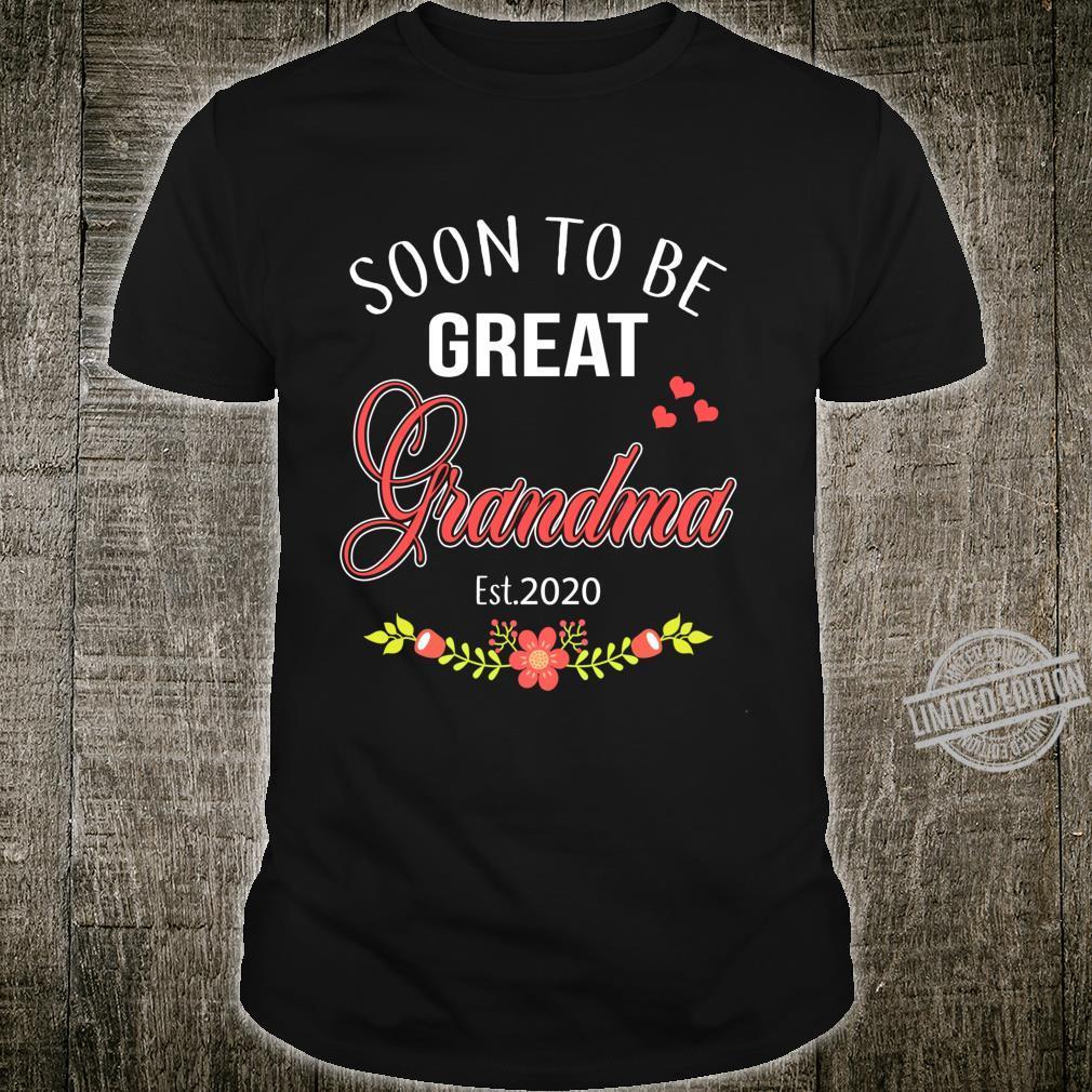 Cute Soon To Be Great Grandma Est 2020 Shirt