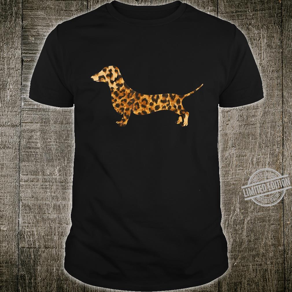 Cute dachshund dog in leopard print best girls Shirt