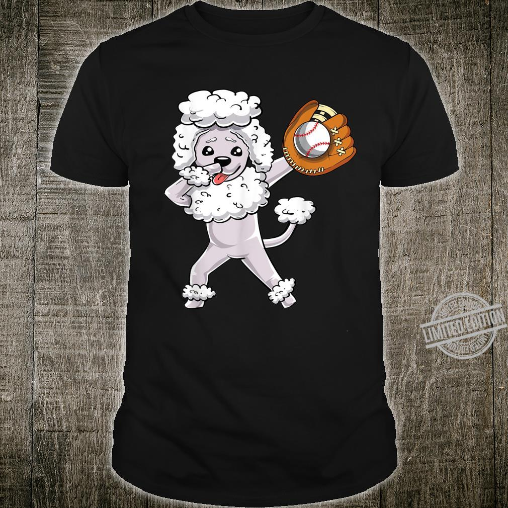 Dabbing Poodle Dog Dab Pet Owner Cute Baseball Player Shirt