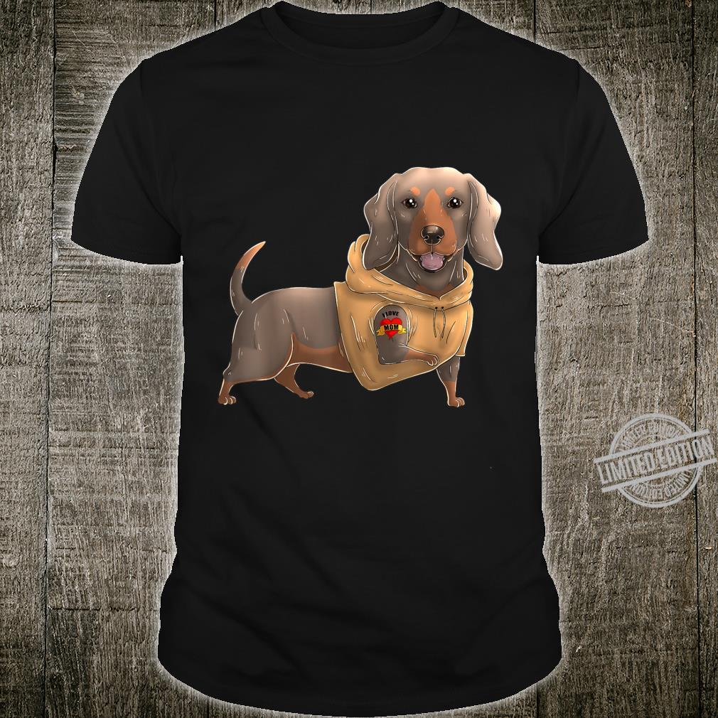 Dachshund I Love Mom Tattoo Dog Mother's Day Dackel Shirt