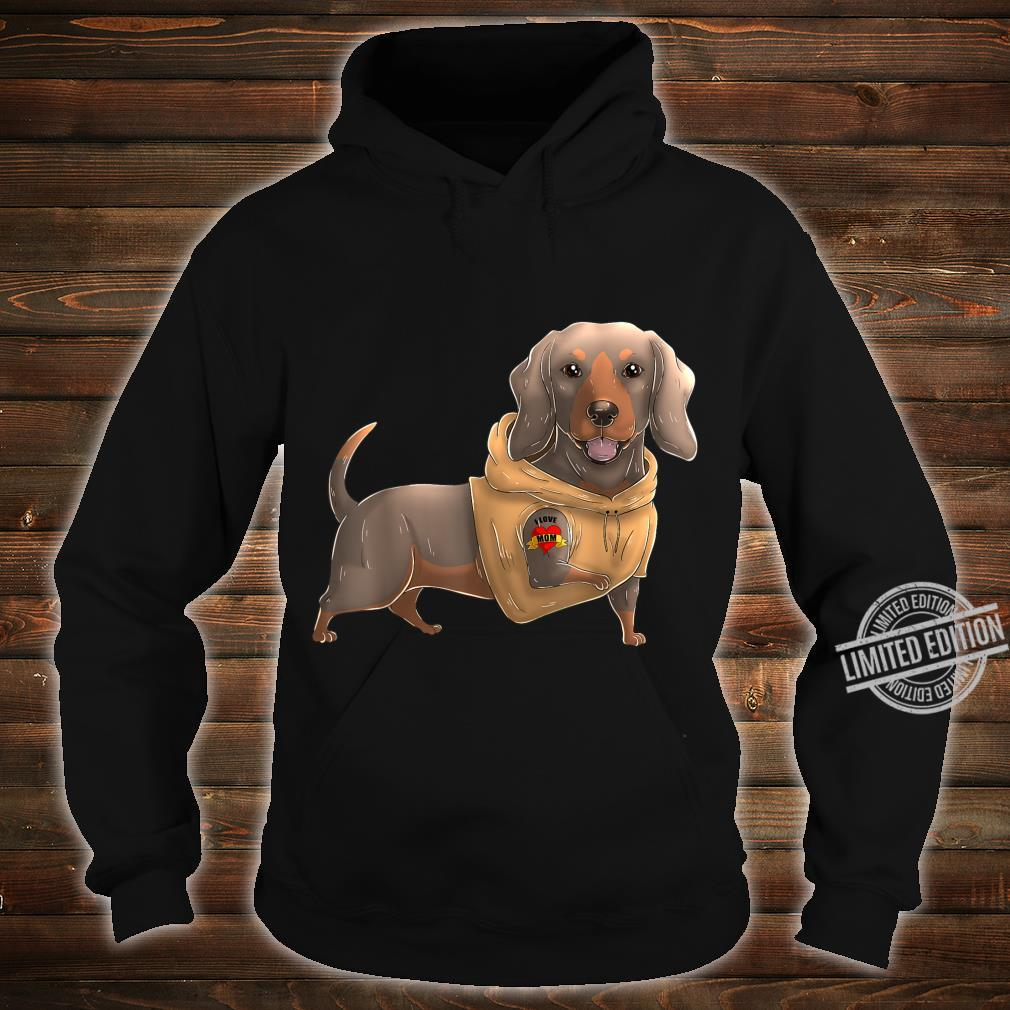 Dachshund I Love Mom Tattoo Dog Mother's Day Dackel Shirt hoodie