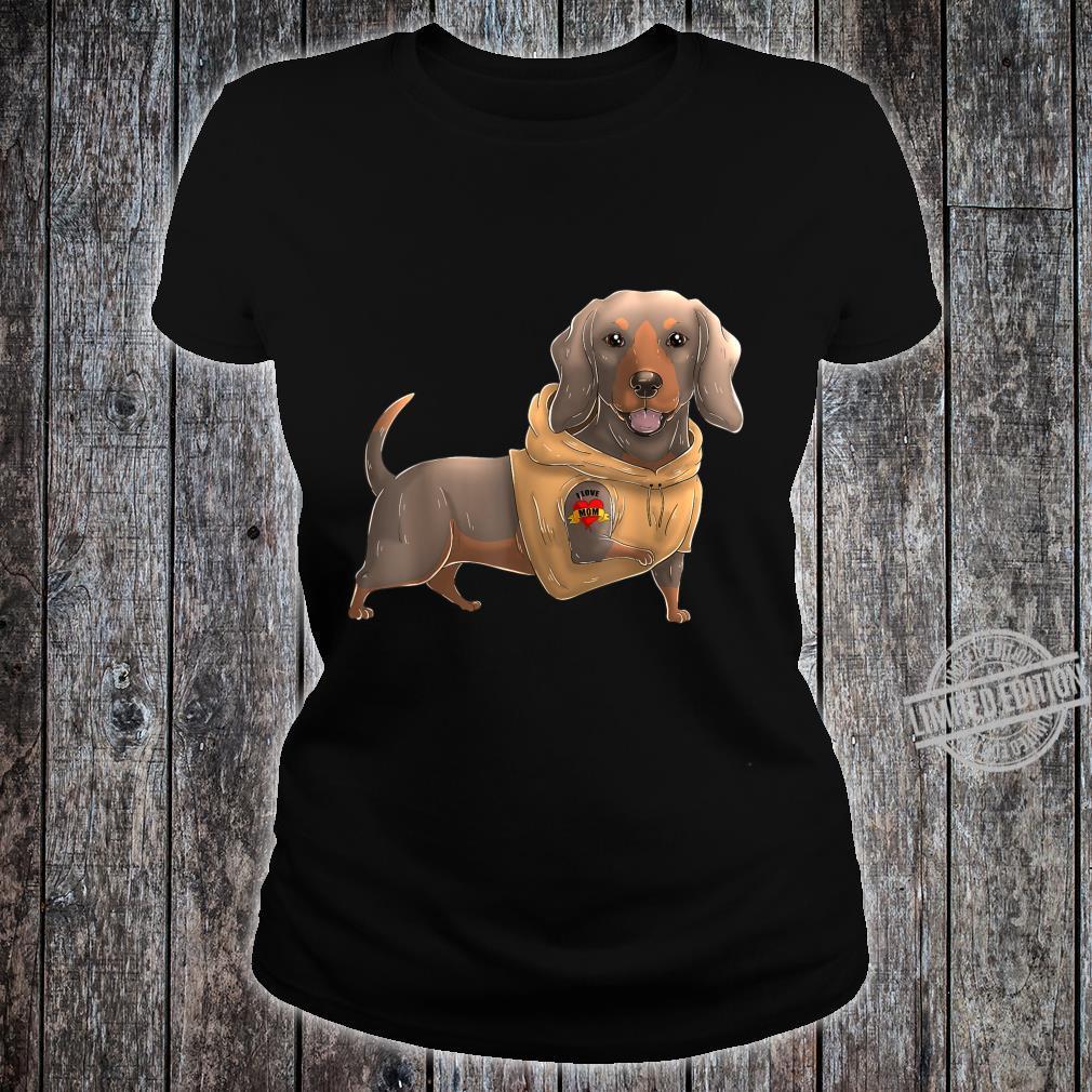 Dachshund I Love Mom Tattoo Dog Mother's Day Dackel Shirt ladies tee