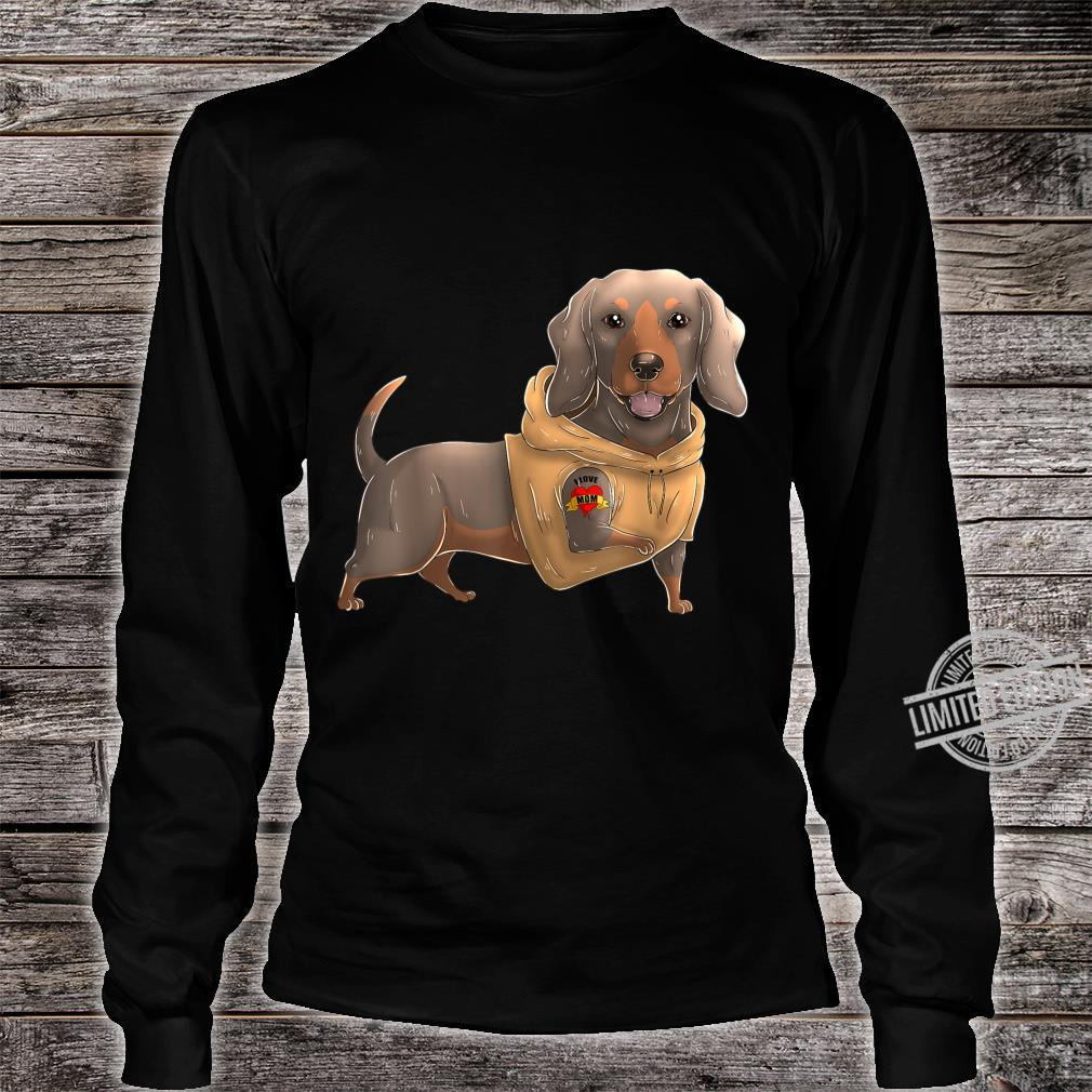 Dachshund I Love Mom Tattoo Dog Mother's Day Dackel Shirt long sleeved