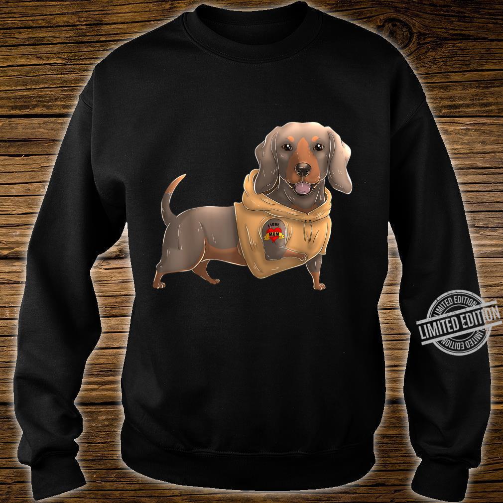 Dachshund I Love Mom Tattoo Dog Mother's Day Dackel Shirt sweater