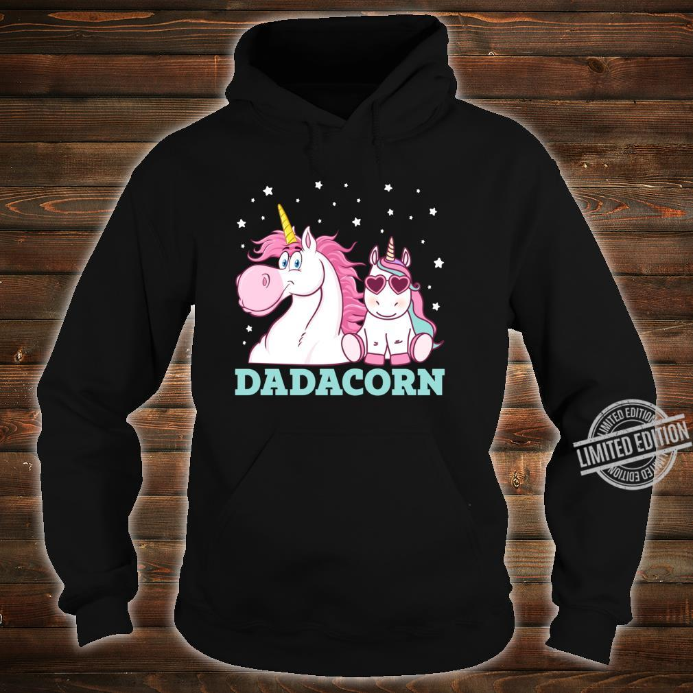 Dadacorn Unicorn Dad Father's Day Shirt hoodie