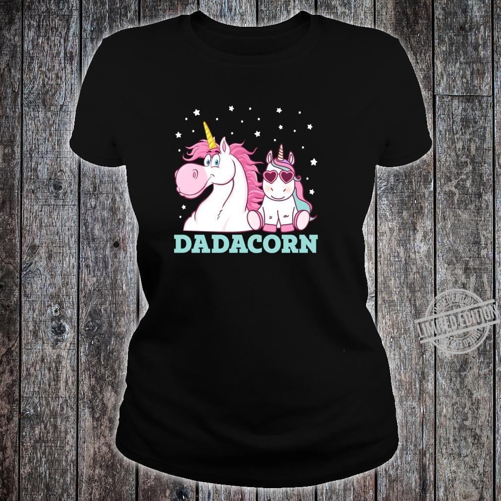 Dadacorn Unicorn Dad Father's Day Shirt ladies tee