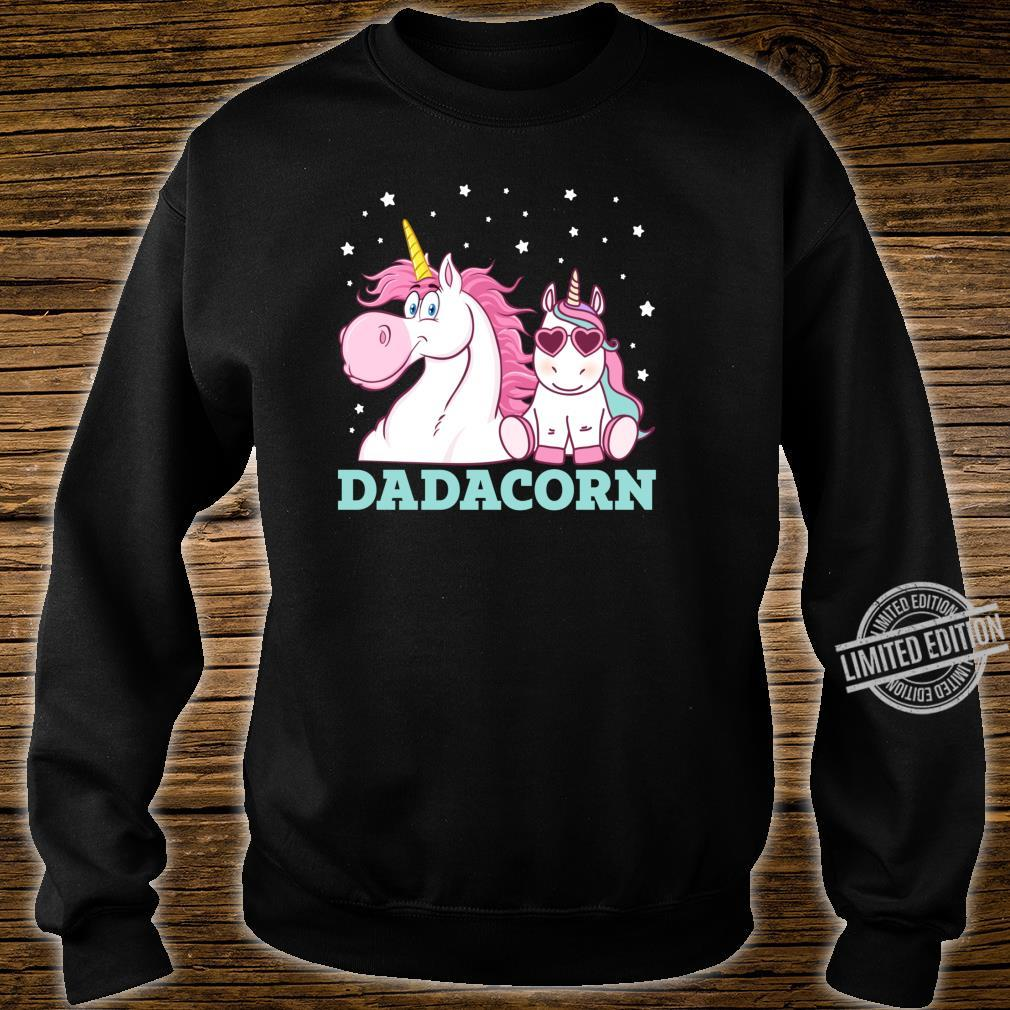 Dadacorn Unicorn Dad Father's Day Shirt sweater