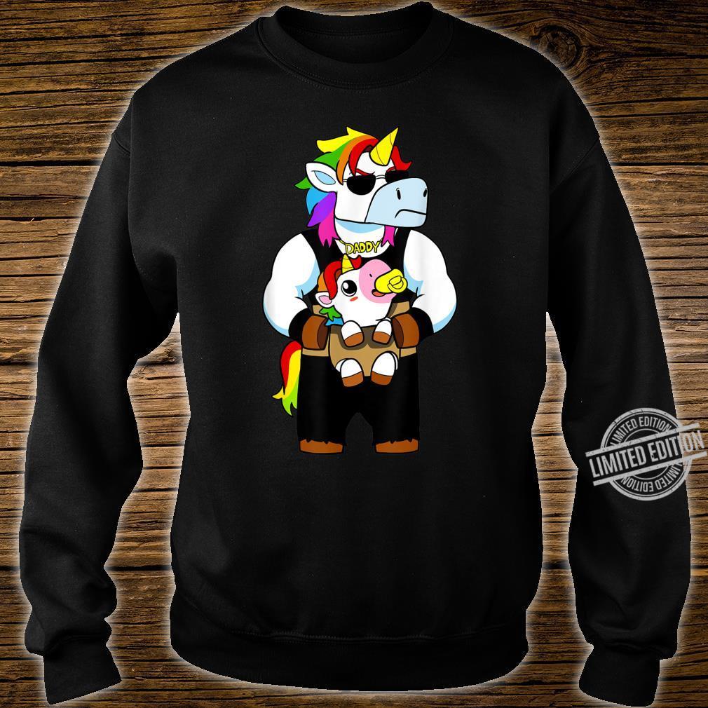 Daddy Corn Dadacorn Unicorn Dad And Baby Shirt sweater