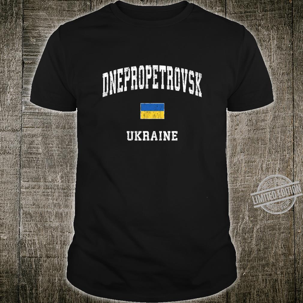 Dnepropetrovsk Ukraine Vintage Athletic Sports Design Shirt
