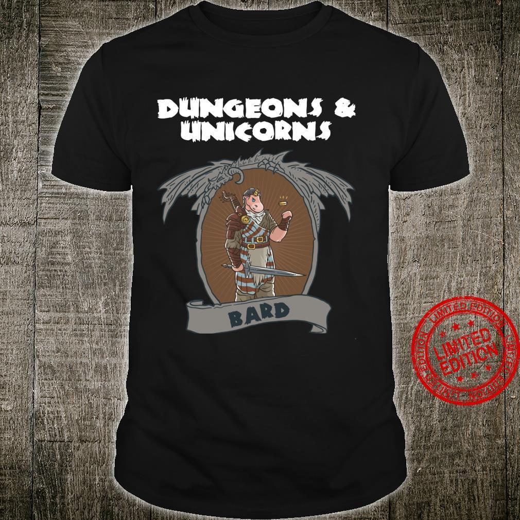Dungeons and Unicorns Bard Unicorn Dice Nerd RPG Game Gamer Shirt