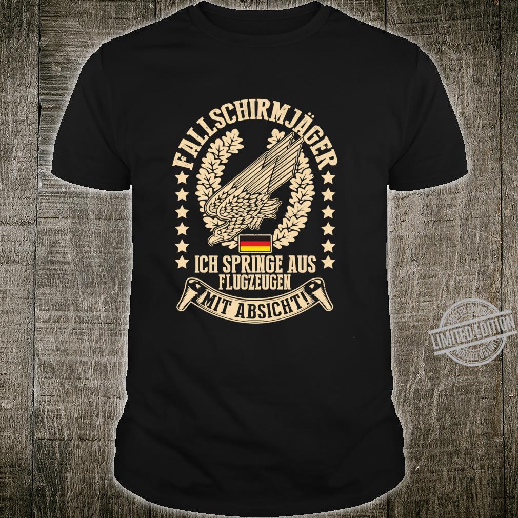 Fallschirmjäger Ich Springe Aus Flugzeugen Mit Absicht Langarmshirt Shirt