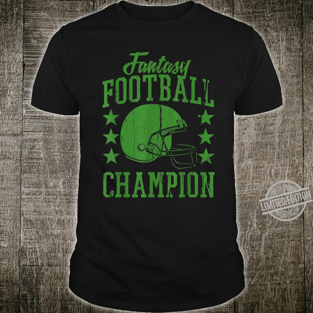Fantasy Football Champion Cool Shirt