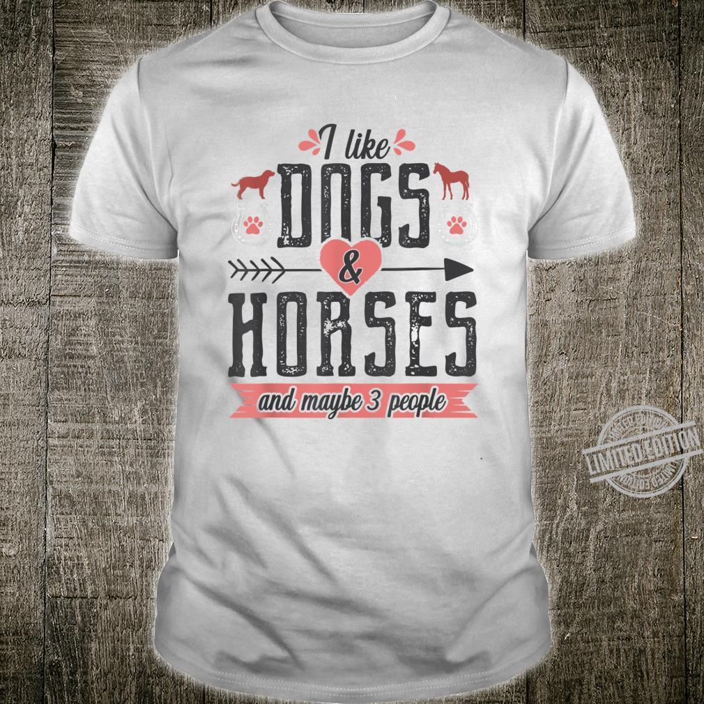 Farmer Equestrian Horse and Dog Shirt