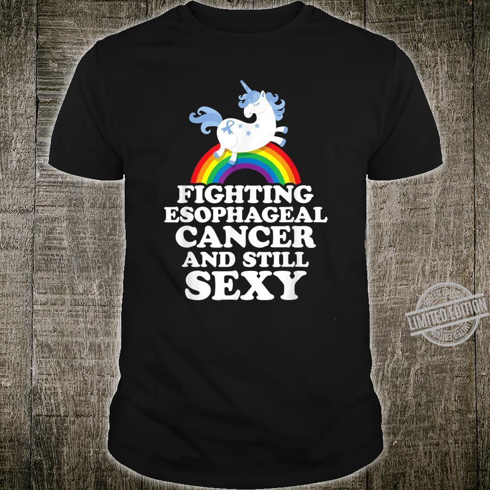 Fighting Esophageal Cancer Still Sexy Unicorn Gay Pride Shirt
