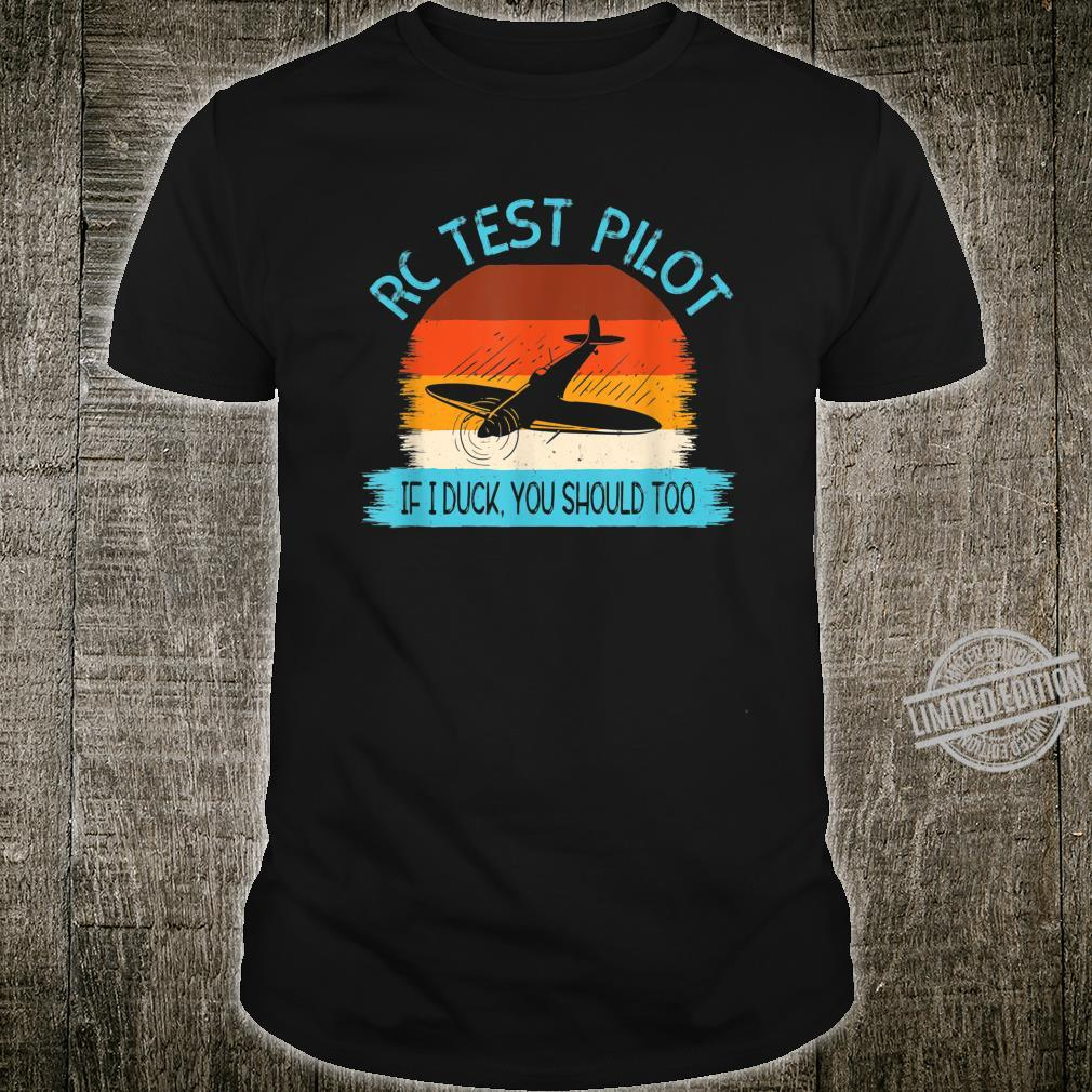 Funny RC Test Pilot Remote Controlled Model Plane Hobby Shirt