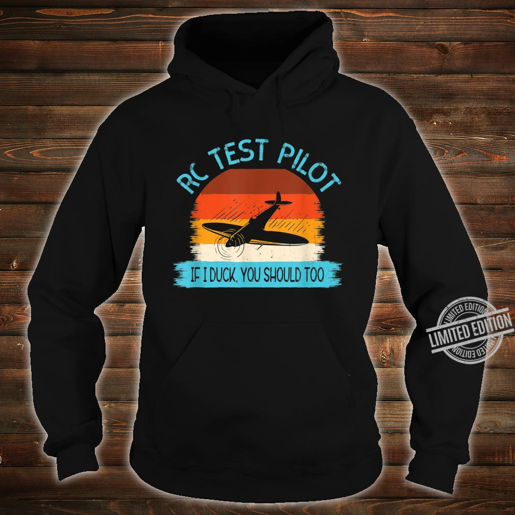 Funny RC Test Pilot Remote Controlled Model Plane Hobby Shirt hoodie