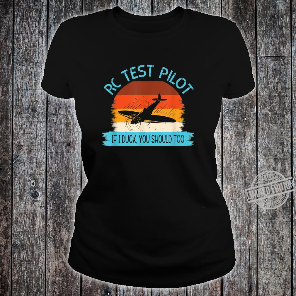 Funny RC Test Pilot Remote Controlled Model Plane Hobby Shirt ladies tee