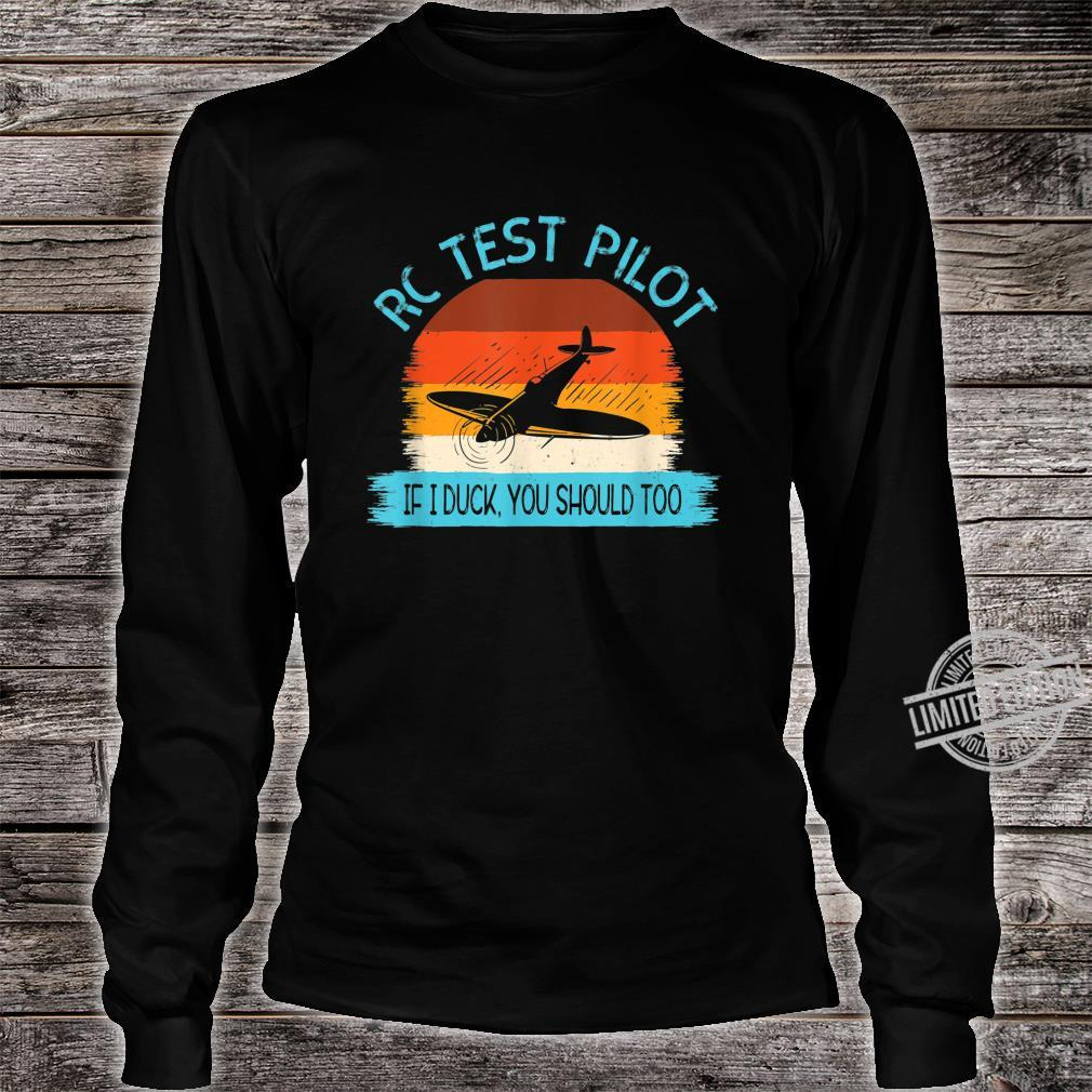 Funny RC Test Pilot Remote Controlled Model Plane Hobby Shirt long sleeved