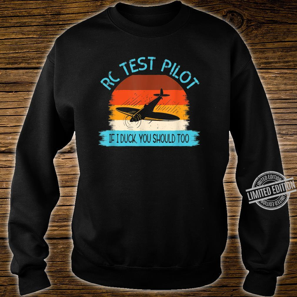 Funny RC Test Pilot Remote Controlled Model Plane Hobby Shirt sweater