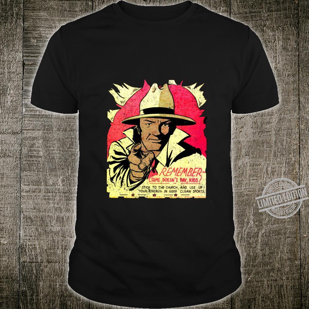 Funny Retro Comic Book Black Detective Shirt
